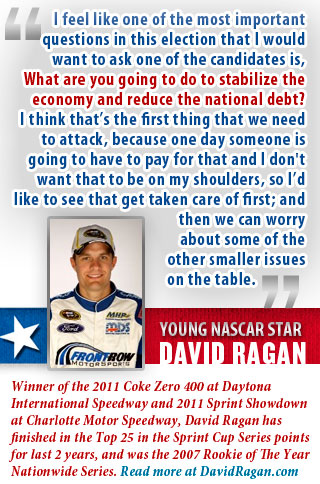 young NASCAR star David Ragan
